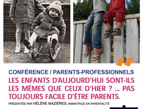 Conférence Parents / Professionnels