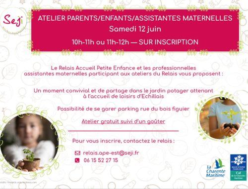Atelier Parents / Enfants / Assistantes maternelles – Samedi 12 juin 2021